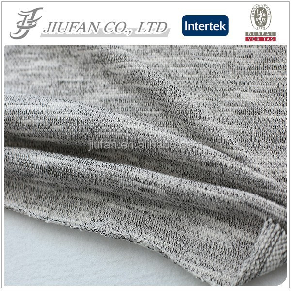 Jiufan Textile Popular Customized T/C Fleece Knitted Polyester Cotton 60/40 Fabric Hacci for Sweater