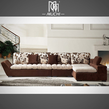 New Design Brown Color Drawing Room Motorisch Sofa Indian Furniture Wholesale