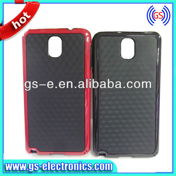 For Samsung note 3 cover ,Double color PC cube pattern Case for Samsung Note 3/N9000