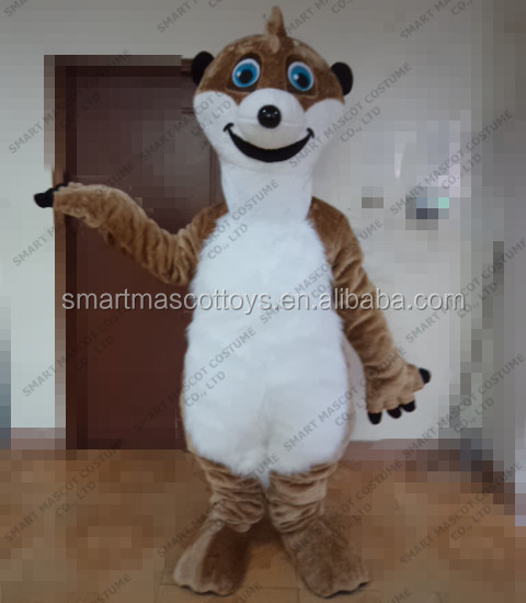 meerkat mascot costume with clear visual adult meerkat costume