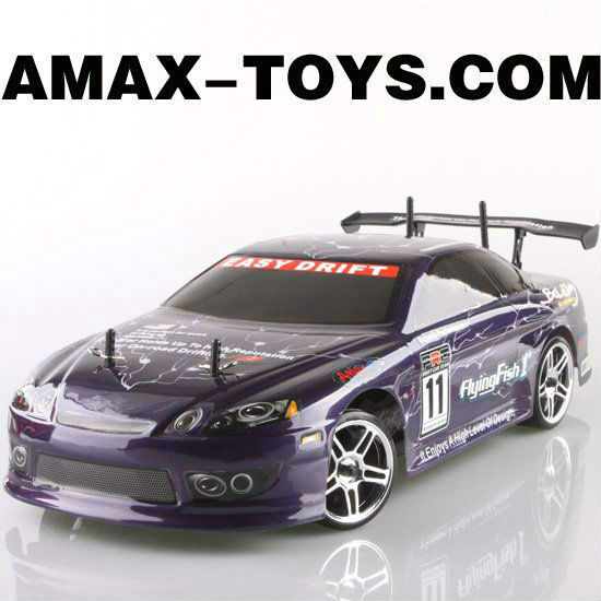 10230top rc four wheel drive car brushless electric powered on-road drift car