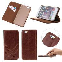 For iphone 6 case leather, for iphone 6 wallet case , leather flip case cover for iphone 6