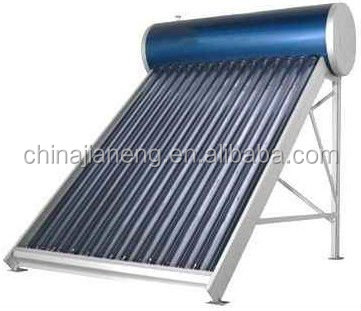 Compact low gas pressure solar water heater with price of solar tube well