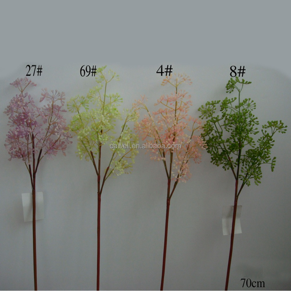 "28"" height 4 colors available plastic 3 branches artificial coriaria berry"