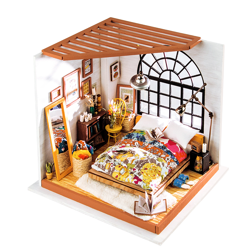 DIY miniature house 3D wooden puzzle Alice's Dreamy bedroom for Gifts and Educational Toys