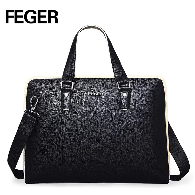Wholesale Cheap Business Laptop Bag Brand Designer Genuine Leather Handbags For Men