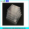 Clear unhinged square series small plastic containers