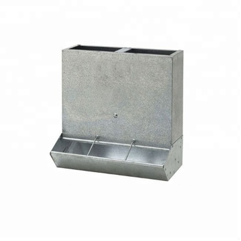 Durable galvanized steel automatic dog food feeder