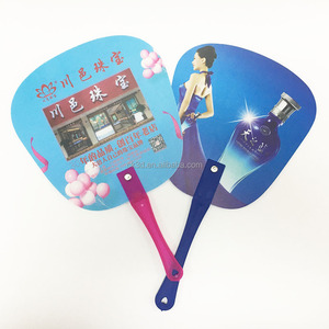 High quality full color printing Logo printed plastic hand fan
