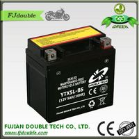 china factory sealed lead acid battery 12v5ah 10hr for motorcycle
