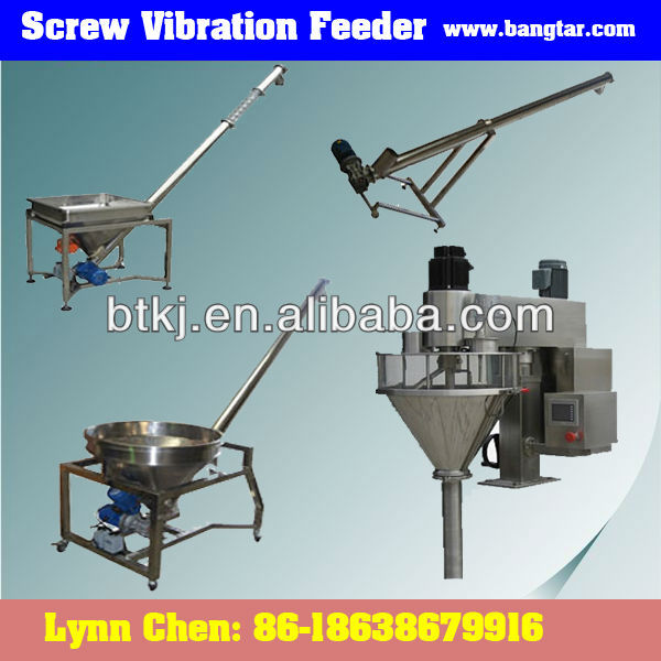 Auto Stainless Large Size Round Hopper Screw Vibration Lifting Feeder for Sale