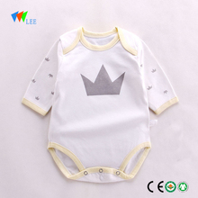 wholesale branded newborn fashion 3/4 sleeve baby clothes baby body romper