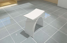 KC-05 wholesale shower stool bathroom fitting stone resin bath bench