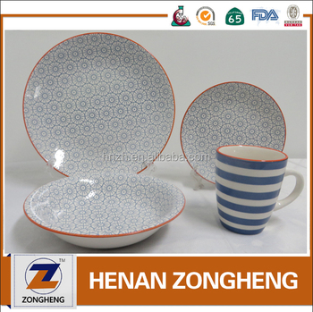 New arrival Healthy transfer printing 16pcs dinner set vajilla