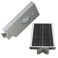 Intelligent Controller Senses 12w Solar Power LED Street Light All in One Outdoor