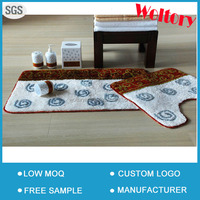 Hot design Many color optional Bath mat and U mat set Custom rugs