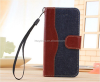 New arrived! Hot selling Jean design mobile phone leather case for IPhone