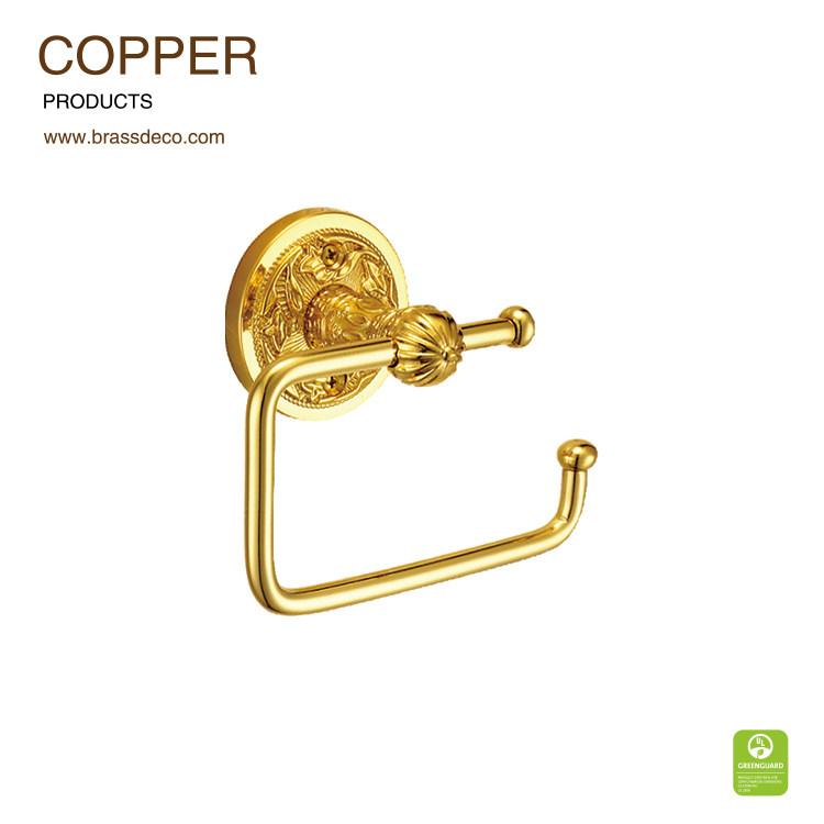 China supplier golden plated LU803 3G brass toilet paper holder