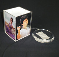 Acrylic model photo /pictures frame Rovoled 4 side show
