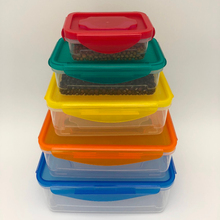 Reusable Kitchen Containers w/ Vented Lids - Plastic Food Containers - School Office Work Microwavable Containers