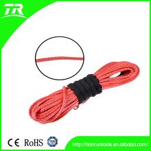 synthetic winch rope for 2500 to 3000lbs of red color