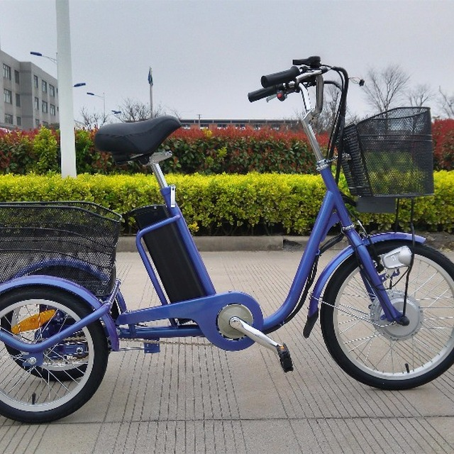2017 new safe design 20 inch 36 v adult 3 wheeled elec bike,electric tricycle from china