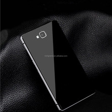 Aluminum metal bumper + tempered glass back battery case cover for Huawei Honor 3C