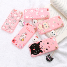 New fashionable matte 3D cartoon embossed soft TPU phone case with string for MOTO xt316 XT615 XT912