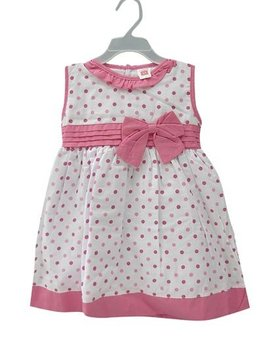 New baby girls pink dots dress 2-4 years