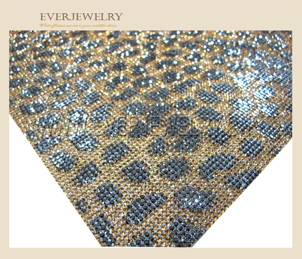 24*40cm Fashion 2016 Self Adhesive Hot Fix Rhinestone Mesh