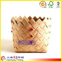 decorative paper basket weaving storage box