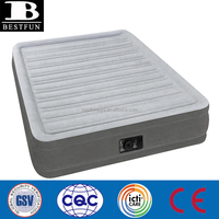 Non-toxic Cozy Full Comfort-Plush Mid Rise Airbed inflatable airbed folding fabric relax air bed with built-in pump