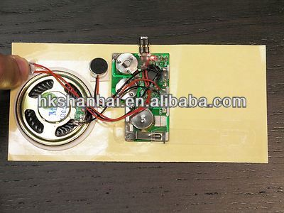 Greeting card sound module musical sound chip for card