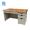 Luoyang high quality cold-rolled metal storage executive table with drawer