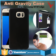 Nano-suction self sticky cell phone antigravity case for samsung s7