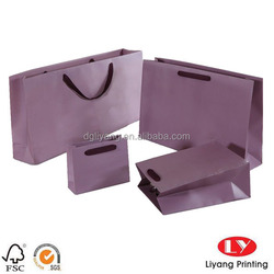 Luxury paper jewelry bags with different handle tyle ribbon and die cut handle