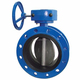 Worm Wheel Double Flange Butterfly Valves With EPDM Seat