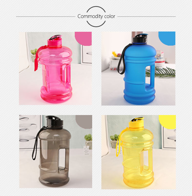 Big 2.2 litre bpa free plastic sport cash / card holder water bottle