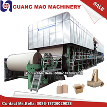 zhengzhou guangmao old used waste paper recycling Corrugated cardboard carton box kraft paper manufacturing machinery