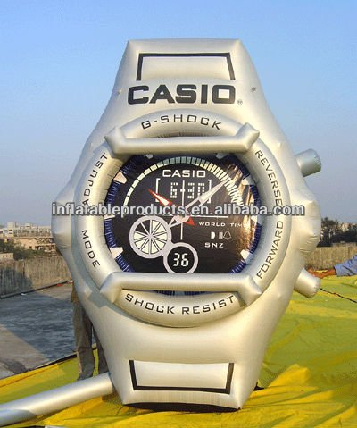 pvc inflatable giant watch for display