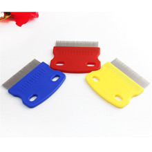 Pet Dog Cat Clean Comb Grooming Tool Steel Small Fine Toothed Comb Catching Lice