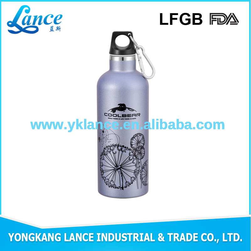 printed picture 500ml large water bottle sport bottle