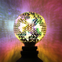 butterfly 3D Fireworks lamp LED bulb light