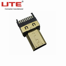 PCB mount USB female/male connector 9P straight customized