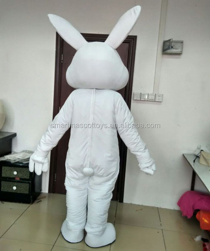 white rabbit easter mascot costume for adult