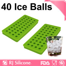 RJSILICONE durable silicone ice tray flexible ice cube tray Black Silicone Ice Ball Mold