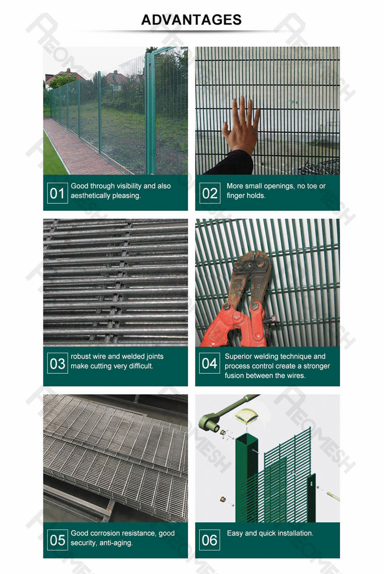 Made in Guangzhou Professional Factory Anti Climb Fence / 358 High security Fence