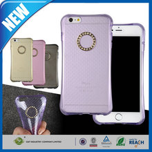 C&T Soft clear rhinestone studded tpu protective phone cover for iphone 6s