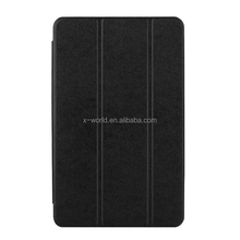 Three fold antishock smart leather tablet cover for Samsung Tab E 8.0