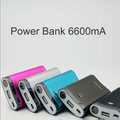 6600mA mobile Power bank for iphone, mp3, mp4, digital dv camera, portable emergency power bank